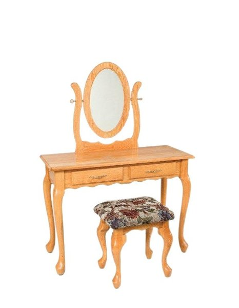 "Amish 42"" Queen Anne Dressing Table"
