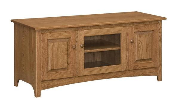 """Amish 56"""" Shaker Entertainment Stand With 3 Doors"""