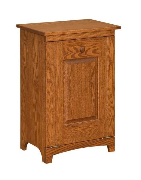 Amish Shaker Wooden Trash Bin