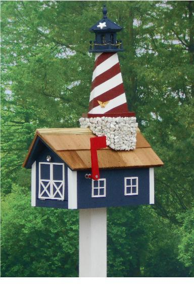 Cape Hatteras Lighthouse Mailbox From Dutchcrafters Amish
