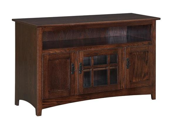 "Amish Country Mission 56"" TV Stand with 6"" Opening"