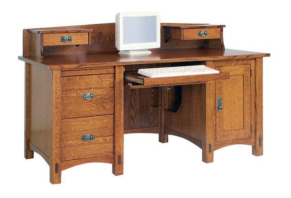 Lucern Mission Computer Desk with Optional Topper