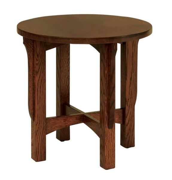 "Amish Lancaster Mission 22"" Round End Table"