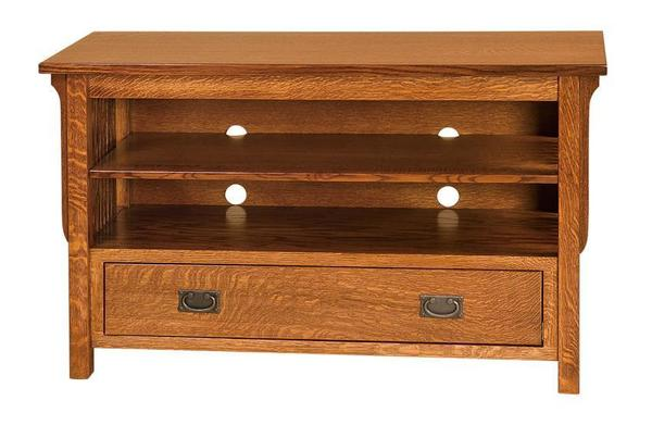 """Amish Made 49"""" Lancaster Mission TV Stand - Made in USA"""