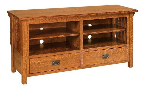 "Amish 60"" Lancaster Mission TV Stand - Solid Wood"