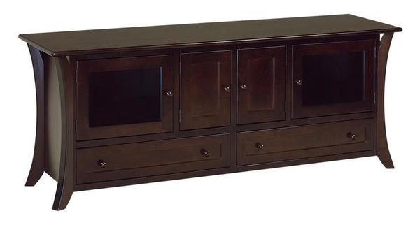 """Amish Hesston Deluxe 72"""" TV Stand"""