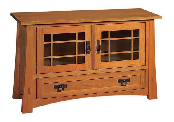 Amish Montana Mission TV Stand with Drawer and Two Doors