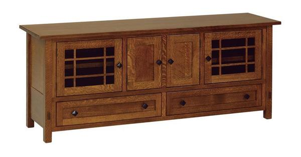 "Amish 72"" Lucern Mission TV Stand"