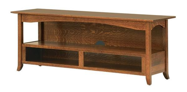 "Amish Geneva 60"" Open TV Stand"