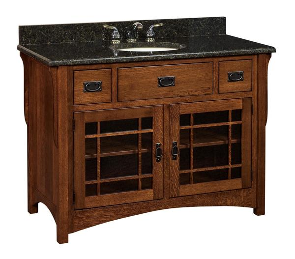 "Amish 49"" Henderson Mission Single Bathroom Vanity Cabinet"
