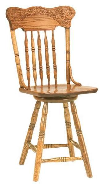 Amish Spring Meadow Bar Stool with Swivel