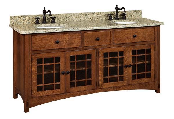 "Amish 72"" Lucern Mission Vanity Cabinet"