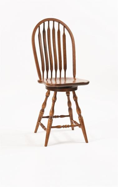 Amish Bent Paddle Windsor Swivel Bar Stool