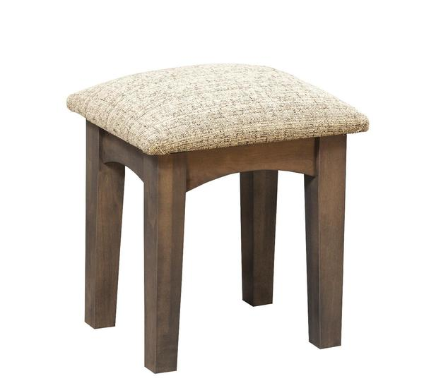 Amish Upholstered Shaker Dressing Table Stool