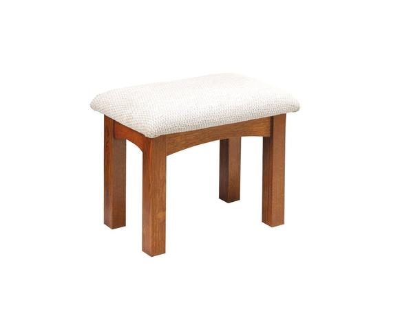Amish Lynchburg Upholstered Mission Vanity Stool Large