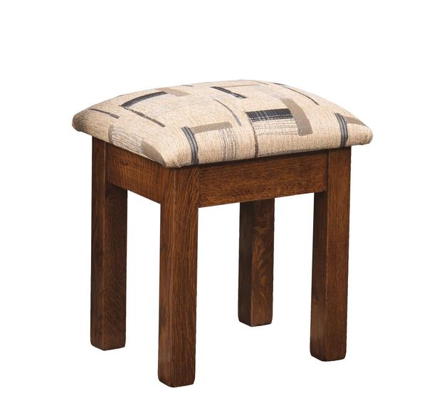 Amish Upholstered Mission Vanity Stool