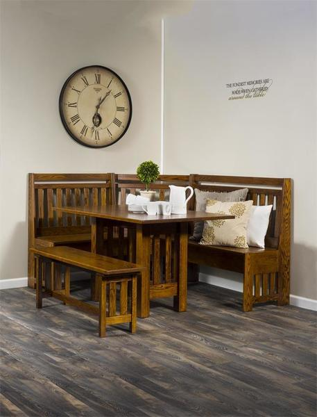 Mission Solid Wood Breakfast Nook Set with Storage