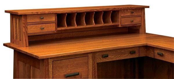 Amish Freemont Mission Desk Topper (Base Sold Separately)