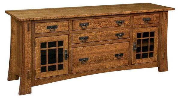 Amish Modesto Mission Lateral Credenza
