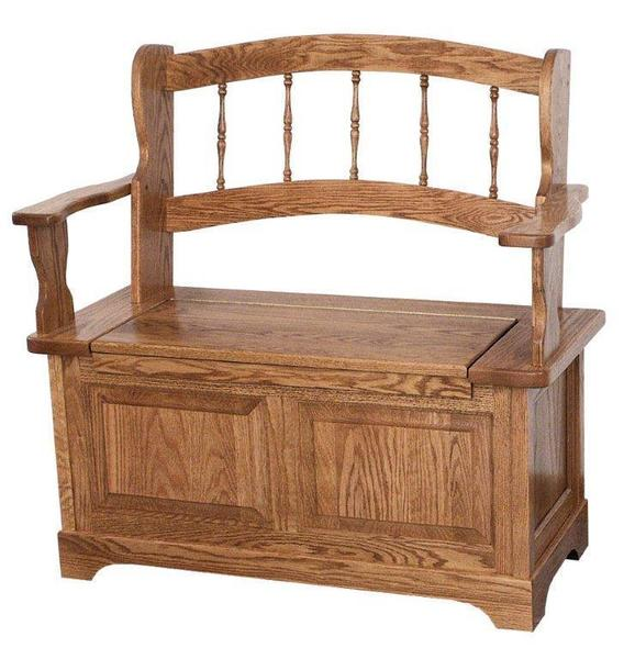 Amish Country Spindle Storage Bench