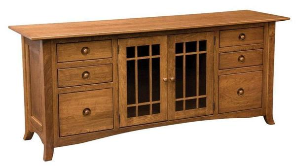 Amish Shaker Hill Credenza With Six Drawers