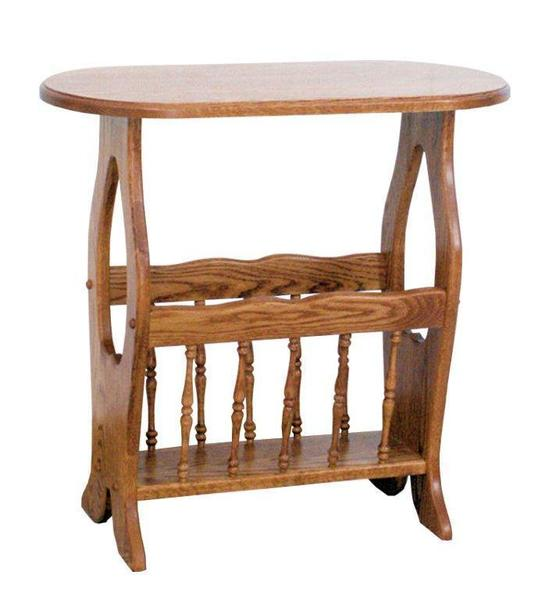Ask Us A Question Amish Country Heart Magazine Rack End Table