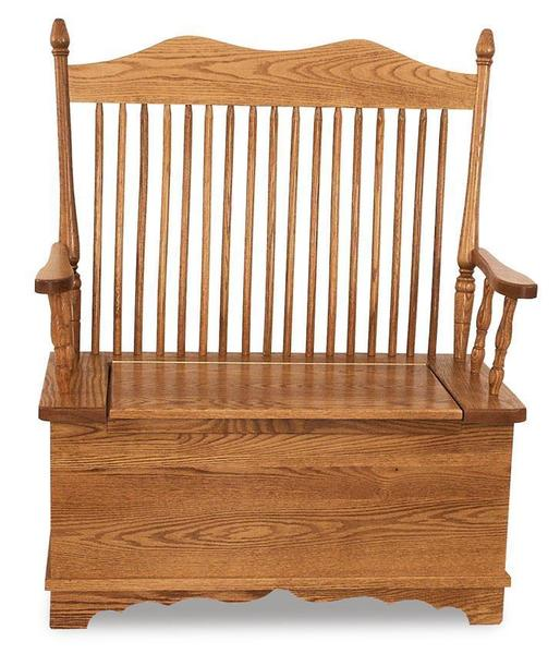 Amish Hoosier Storage Bench