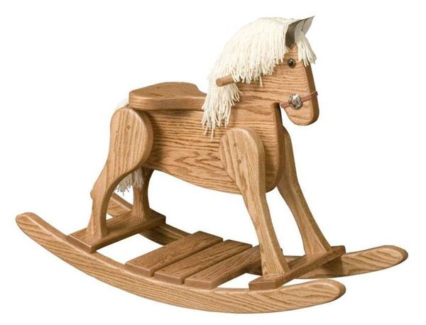 Amish Small Rocking Horse Deluxe