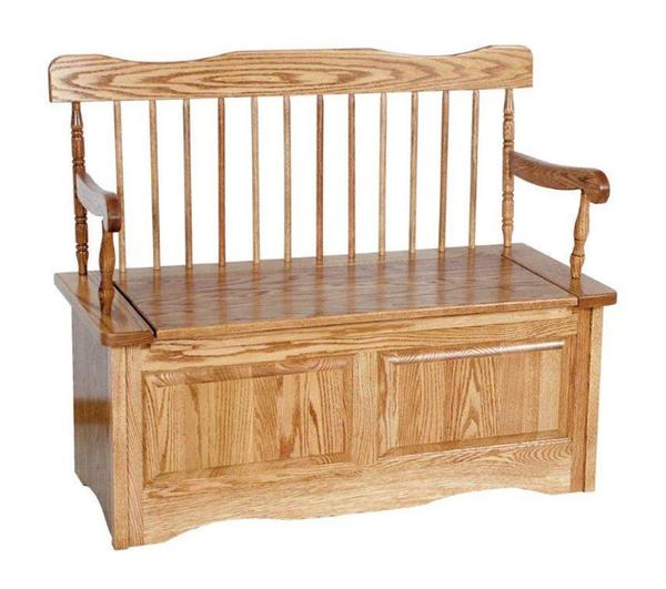 Amish Straight Back Storage Bench