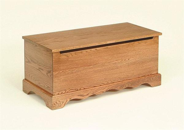 Amish Oak Wood Plain Toy Chest