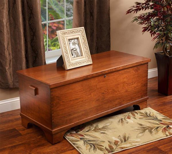 Ask Us A Question Amish Cherry Wood Large Flat Top Hope Chest