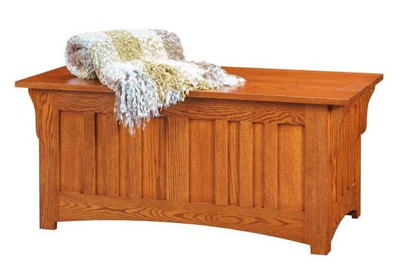 Amish Oak Wood Mission Hope Chest