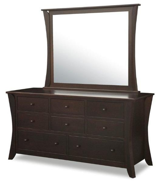 Amish Lakemont Shaker Dresser with Eight Drawers