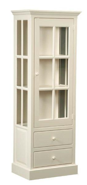 Amish Cape Cod Pine Pantry Cabinet