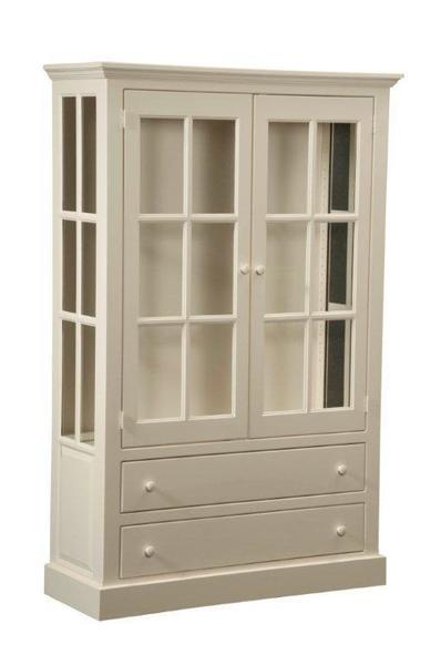 Amish Cape Cod Pine Curio Cabinet