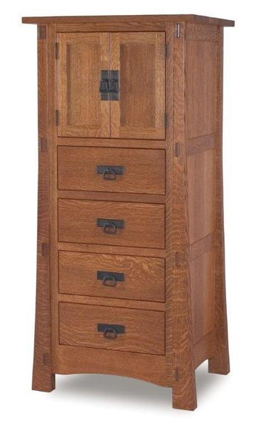 Amish Rockefeller Mission Lingerie Chest with Two Doors