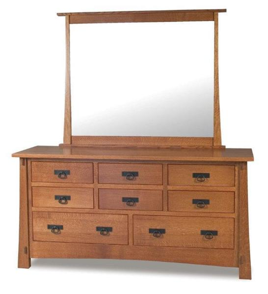 Amish Modesto Mission Dresser with Eight Drawers