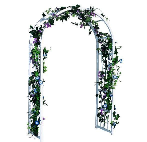 Amish Vinyl Two Hoop 6.8 Ft. Garden Arbor