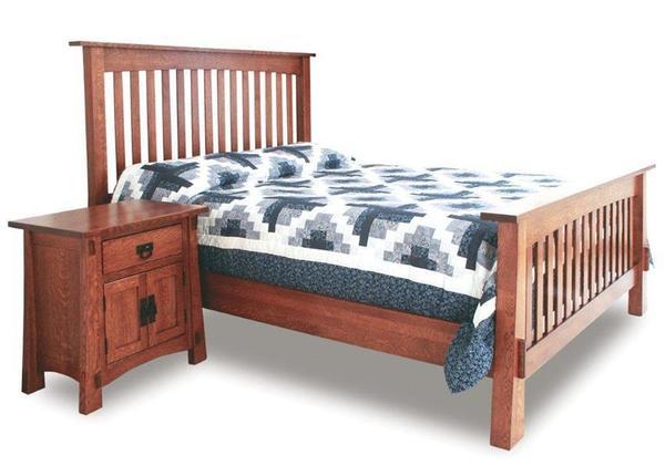 Amish Modesto Mission Slat Bed