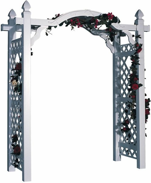 Amish Kingston 7 ft. Vinyl Arch Arbor