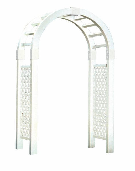 Plymouth Amish Vinyl 7 Ft. Arch Arbor