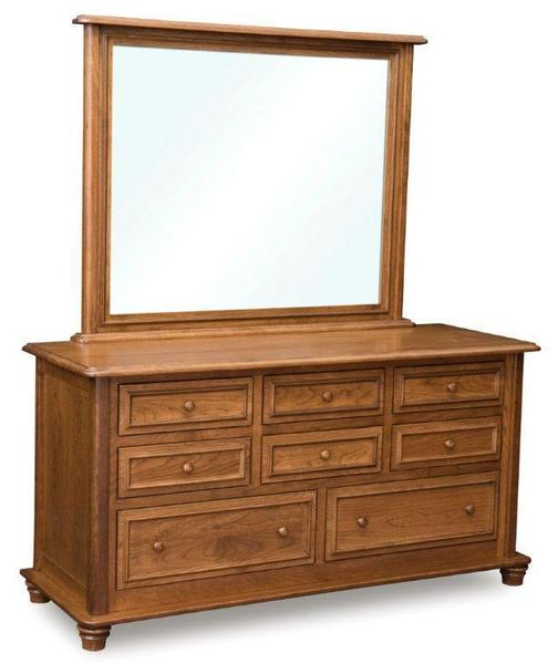 Amish Woodberry Dresser with Eight Drawers