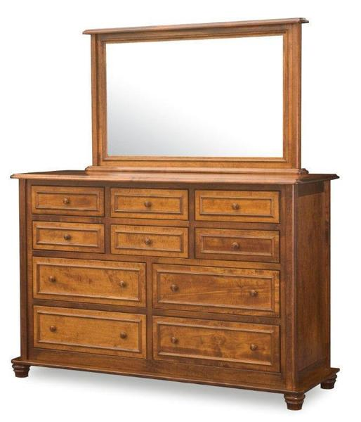 Amish Woodberry Dresser with Ten Drawers