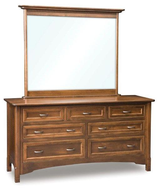 Amish West Lake Dresser with Seven Drawers