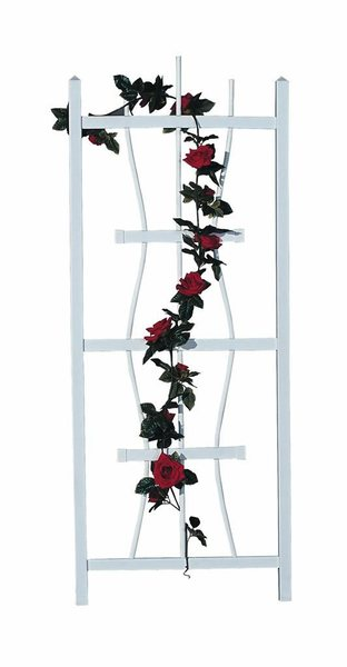 Amish Square Top 5 ft. Vinyl Wall Trellis