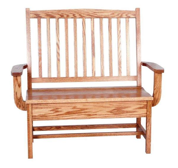 Amish Mission Bench with Storage
