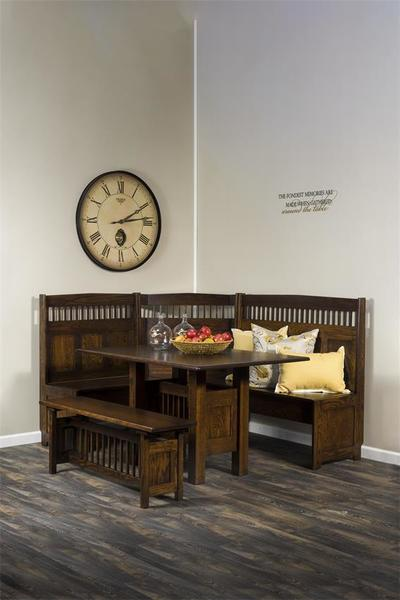 Amish Classic Mission Corner Nook Set - Solid Wood