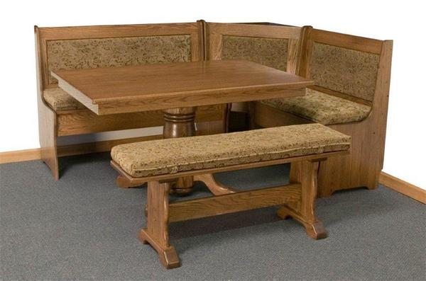 Solid Wood Corner Breakfast Nook Set From Dutchcrafters Amish