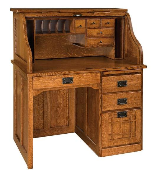 Amish Mission Roll Top Desk