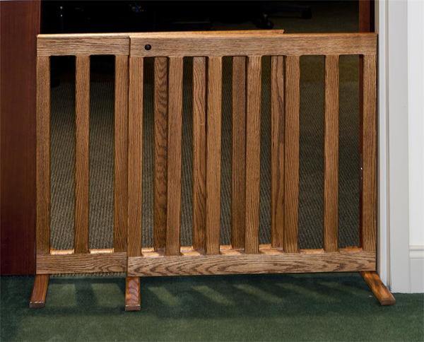 Amish Made Adjustable Hardwood Dog Fence